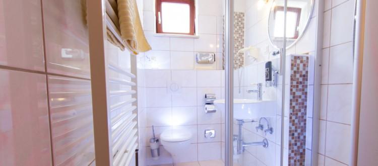 Einzelzimmer mit Dusche